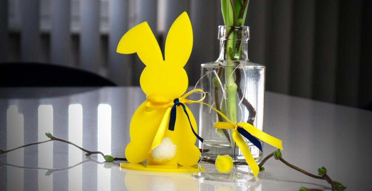 Eurolaser : découpe au laser de lapins de Pâques en acrylique