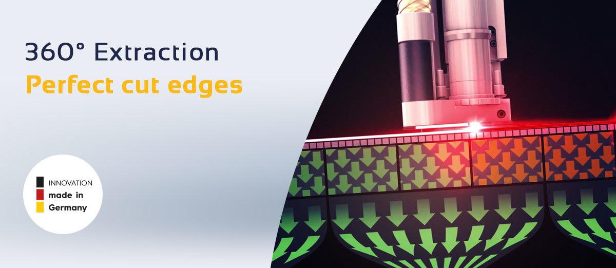 Laser Eurolaser – une technologie d'aspiration à 360°